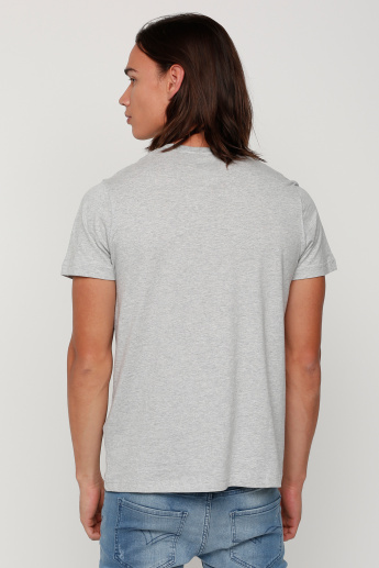 Sustainability Printed Round Neck T-Shirt with Short Sleeves