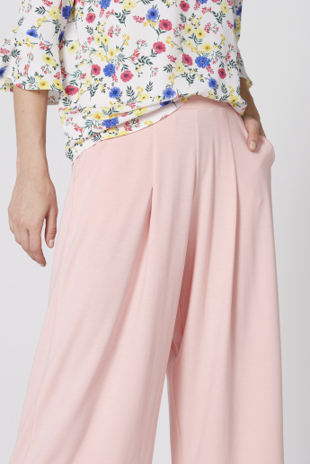 Pocket Detail Culottes with Elasticised Waistband