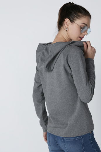 Pocket Detail Jacket with Long Sleeves and Hood