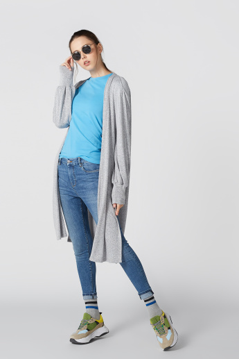 Long Sleeves Cardigan with Side Slits