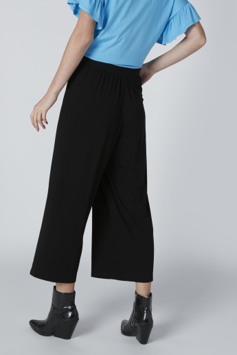 Pocket Detail Palazzo Pants with Elasticised Waistband