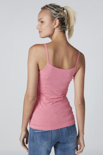 Scoop Neck Vest with Spaghetti Straps