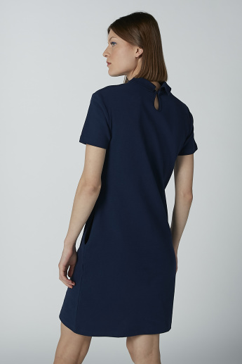 Sustainability Solid T-shirt Dress with Pocket Detail