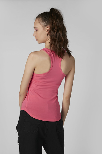 Plain Vest with Scoop Neck and Racerback