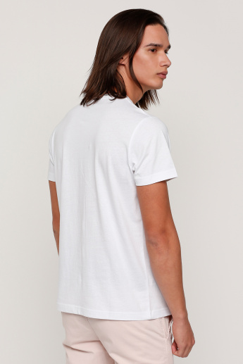 Sustainability Printed T-Shirt with Round Neck and Short Sleeves