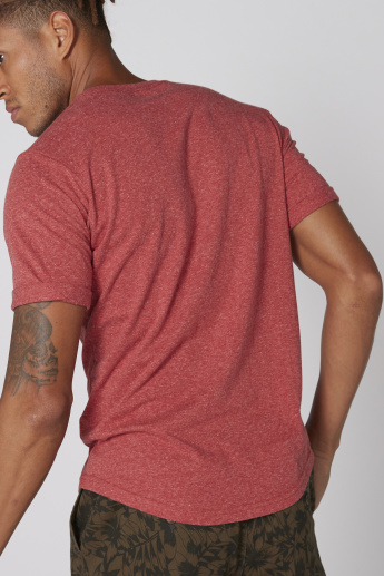 Crew Neck T-Shirt with Short Sleeves and U-Hem