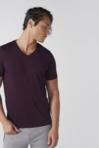 V-Neck T-Shrit with Short Sleeves