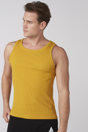 Ribbed T-Shirt with Scoop Neck
