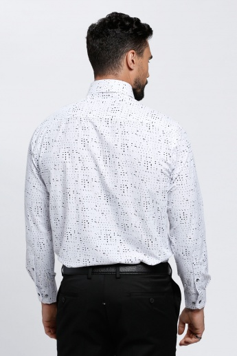 Printed Shirt with Long Sleeves and Patch Pocket