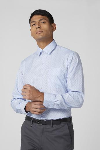 Chequered Shirt with Sleeves Placket and Patch Pocket
