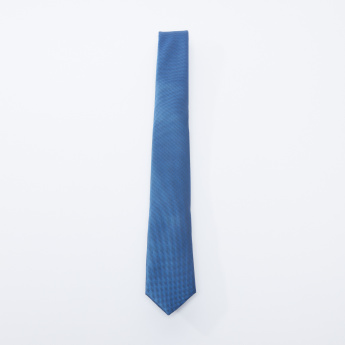 Textured Tie in Regular Cut with Keeper Loop
