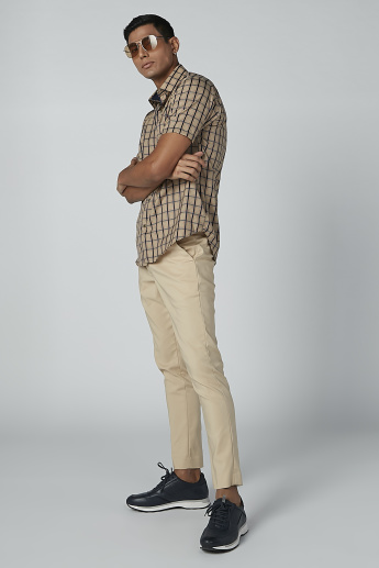 Chequered Shirt with Chest Pocket Detail and Short Sleeves