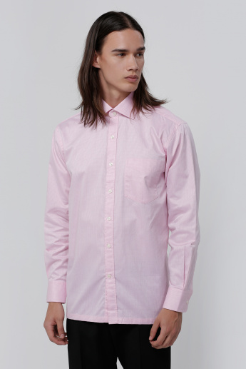 Zodiac Shirt with Long Sleeves and Button Placket