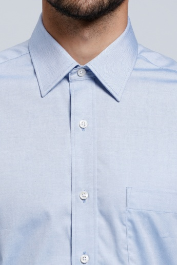 Arrow Long Sleeves Shirt with Pocket Detail and Complete Placket