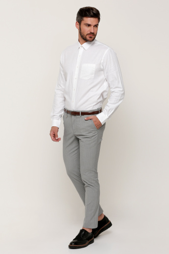 Arrow Textured Shirt with Long Sleeves and Complete Placket