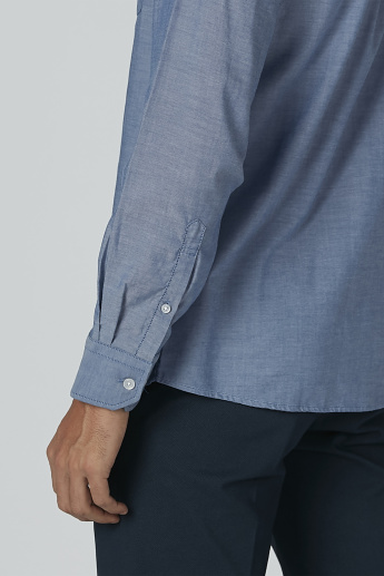 Arrow Plain Shirt with Long Sleeves and Chest Pocket