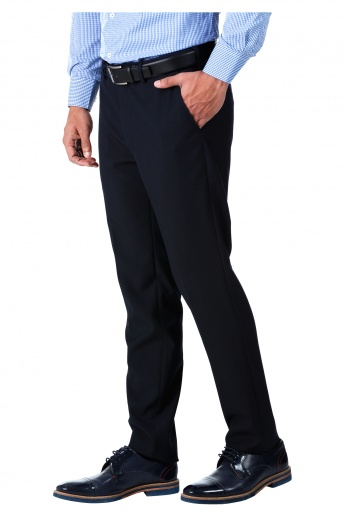 Formal Auto Flex Trousers in Slim Fit