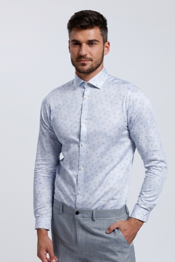Long Sleeves Shirt with Complete Placket in Slim Fit
