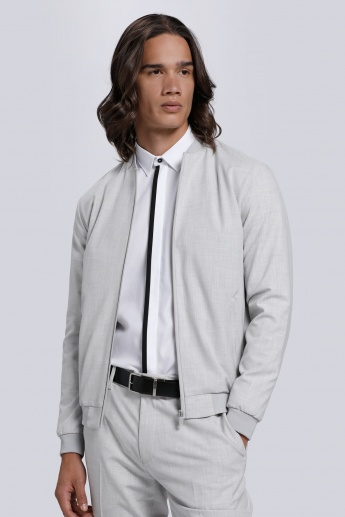 Long Sleeves Jacket with Zip Closure