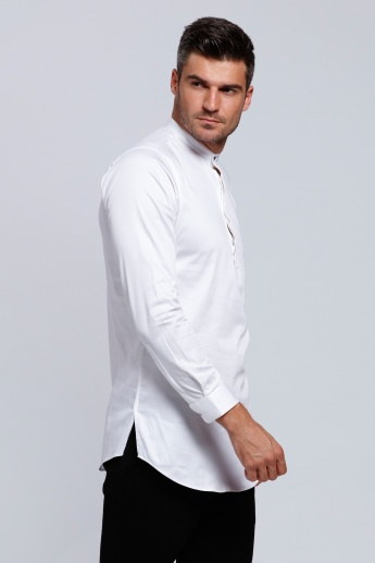 Long Sleeves Henley Neck Shirt