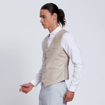 Waistcoat with Button Placket and Pocket Detail