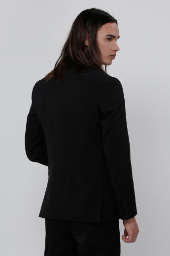 Long Sleeves Jacket with Notch Lapel Collar