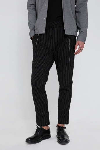 Printed Full Length Pants with Pockets on the Sides