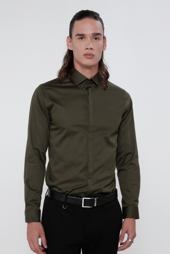 Long Sleeves Shirt with Compete Placket