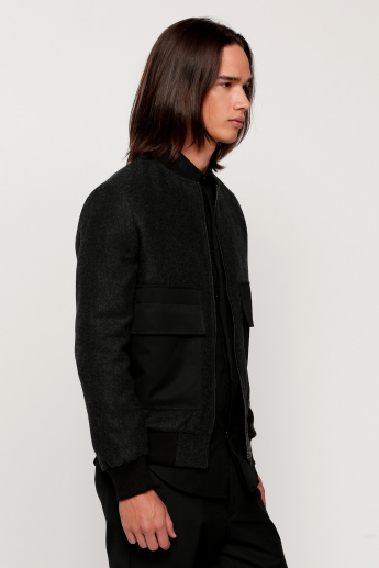 Jacket with Long Sleeves and Zip Closure