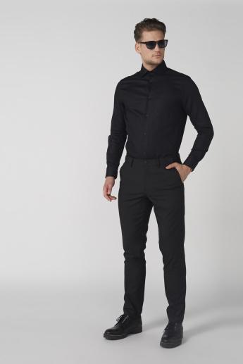 Long Sleeves Shirt with Complete Placket and Chest Pocket