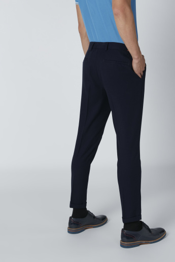 Full Length Pants with Button Closure and Pocket Detail