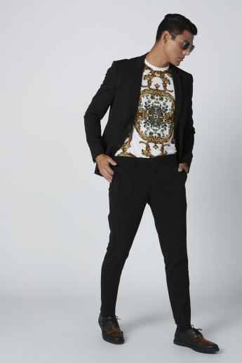 Notched Lapel Jacket in Skinny Fit with Long Sleeves