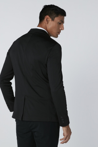 Pocket Detail Jacket with Long Sleeves and Back Slit
