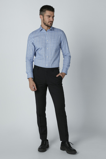Chequered Shirt with Chest Pocket Detail and Long Sleeves