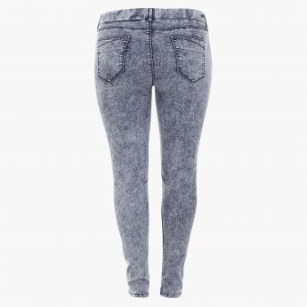 Plus Size Stonewashed Jeggings