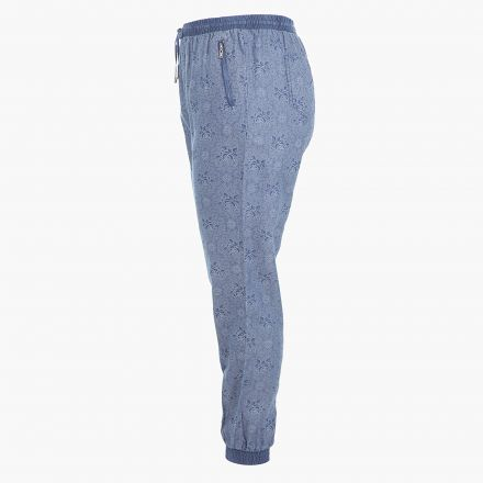 Plus Size Printed Denims with Cuffed Hem