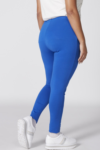 Full Length Mid-Rise Leggings with Elasticised Waistband