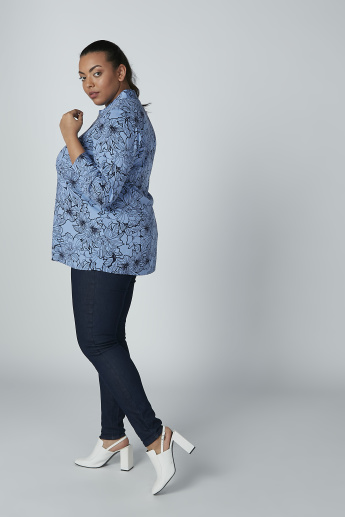 Floral Printed Shirt with Long Sleeves