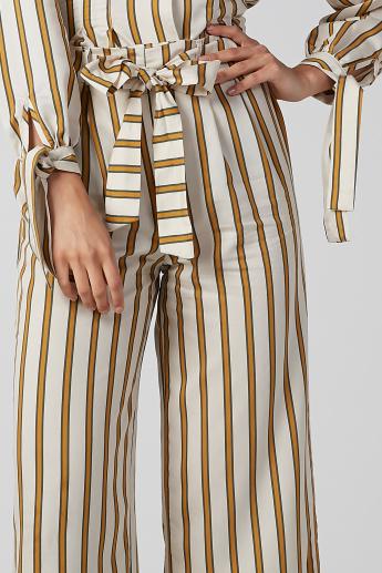 Koton Striped Palazzo Pants with Tie Ups