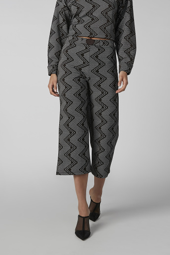 Koton Textured Culottes with Button Detail