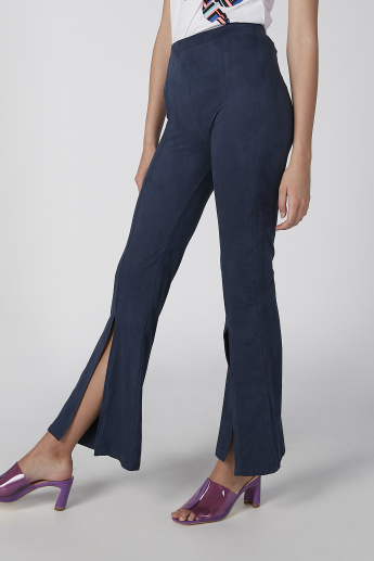 Koton Plain Trousers with Slits
