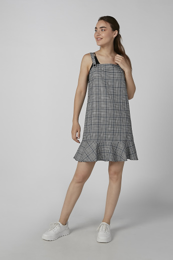 Koton Chequered Sleeveless Shift Dress