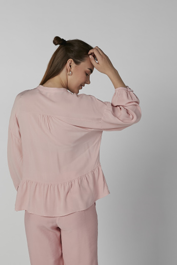 Koton Plain Top with Long Sleeves
