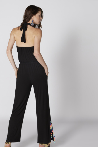 daf06073446e Full Length Jumpsuit with Halter Neck and Pocket Detail