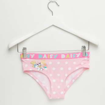 Daisy Duck Printed Briefs with Elasticised Waistband