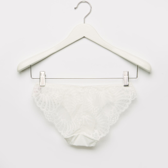 Lace and Bow Detail Hipster Briefs