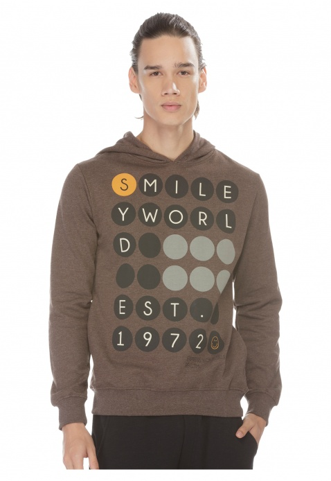 Smiley World Printed Pullover with Hood