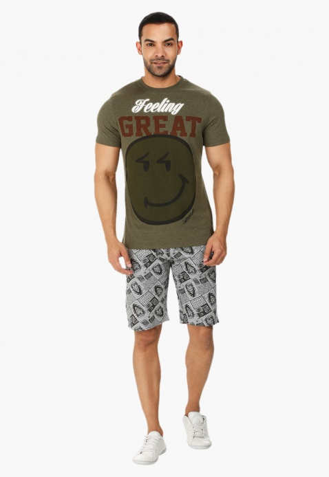 Smiley World Printed T-shirt