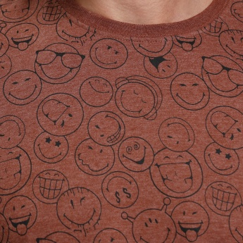 Smiley World Printed Round Neck T-Shirt