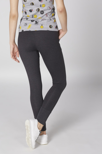 Smiley World Printed Full Length Jog Pants with Elasticised Waistband